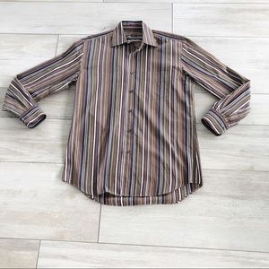 Paul Smith Brown Striped Button Down Shirt